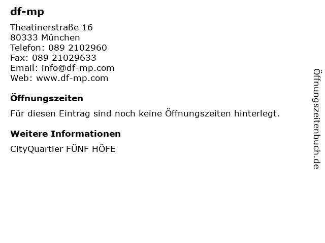 df-mp in München: Adresse und Öffnungszeiten