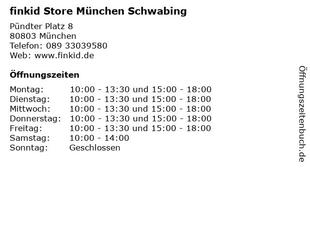 finkid Store München Schwabing in München: Adresse und Öffnungszeiten