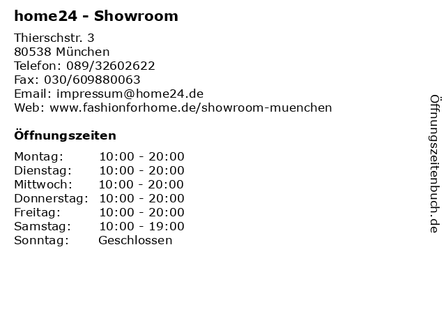 ᐅ öffnungszeiten Home24 Showroom Thierschstr 3 In München