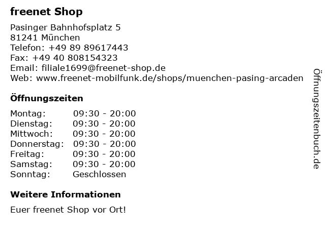 mobilcom-debitel in München: Adresse und Öffnungszeiten