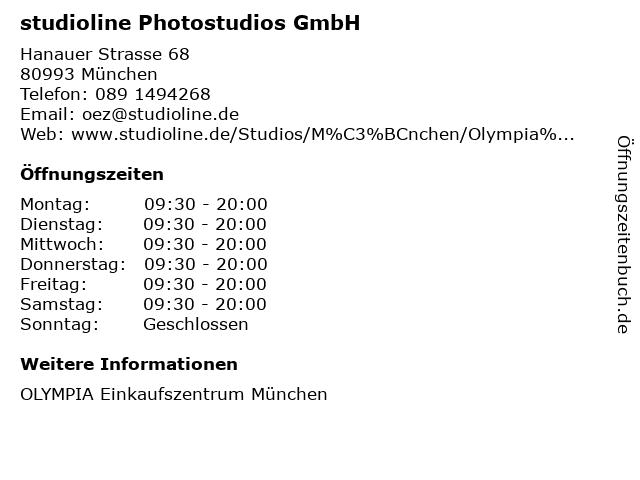 ᐅ Offnungszeiten Studioline Photostudios Gmbh Hanauer Strasse