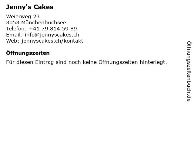 Jenny's Cakes in Münchenbuchsee: Adresse und Öffnungszeiten