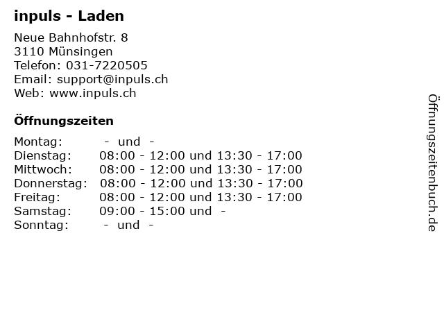 inpuls - Laden in Münsingen: Adresse und Öffnungszeiten