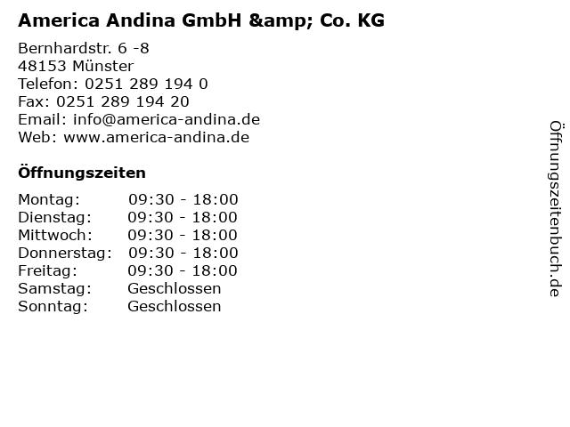America Andina GmbH & Co. KG in Münster: Adresse und Öffnungszeiten