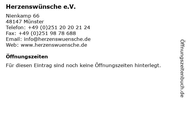 Herzenswünsche e.V. in Münster: Adresse und Öffnungszeiten