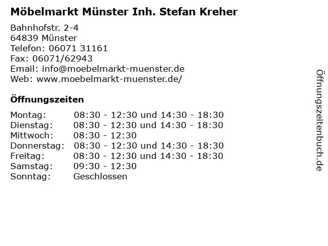 ᐅ Offnungszeiten Mobelmarkt Munster Inh Stefan Kreher