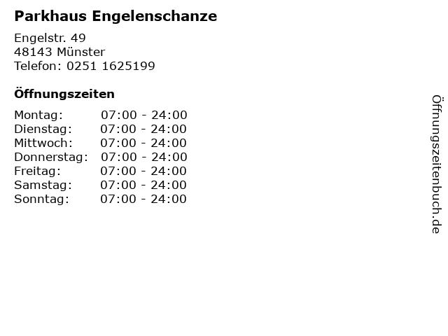 Parkhaus Engelenschanze in Münster: Adresse und Öffnungszeiten
