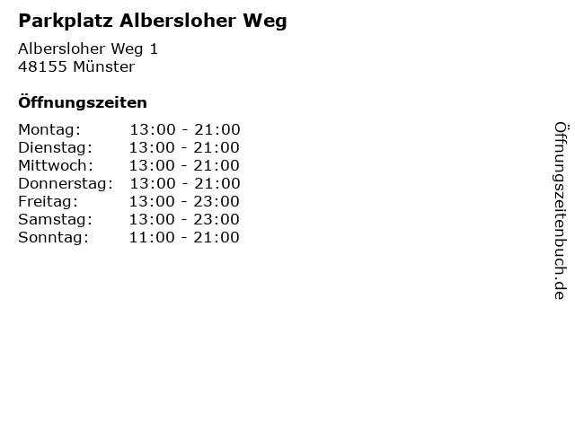 Parkplatz Albersloher Weg in Münster: Adresse und Öffnungszeiten