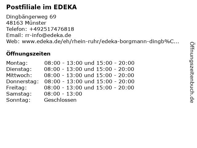 Postfiliale im EDEKA in Münster: Adresse und Öffnungszeiten