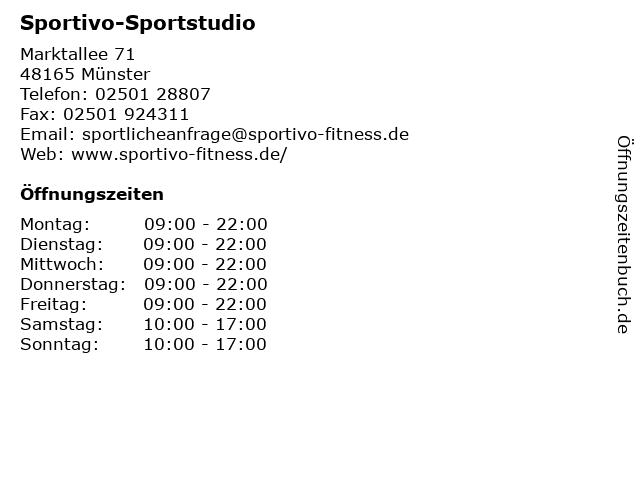 Sportivo-Sportstudio in Münster: Adresse und Öffnungszeiten