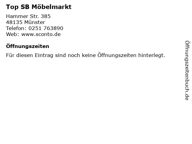 ᐅ Offnungszeiten Top Sb Mobelmarkt Hammer Str 385 In Munster