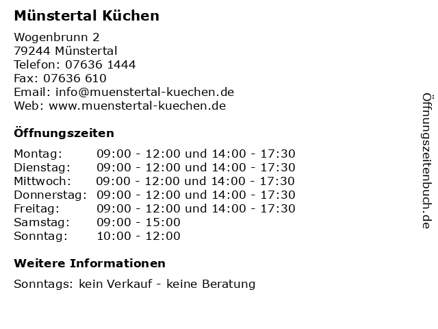 ᐅ Offnungszeiten Munstertal Kuchen Wogenbrunn 2 In Munstertal