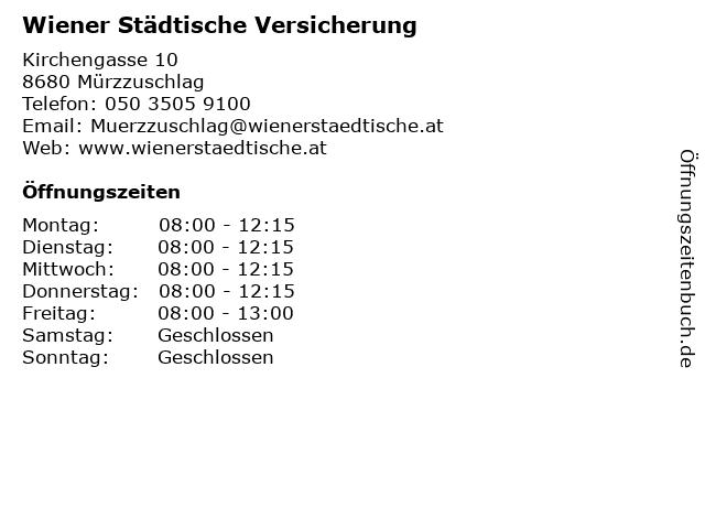 Wiener Städtische Versicherung in Mürzzuschlag: Adresse und Öffnungszeiten