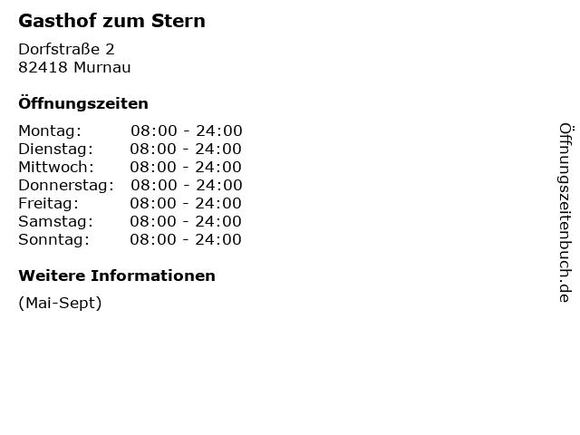 Gasthof zum Stern in Murnau: Adresse und Öffnungszeiten