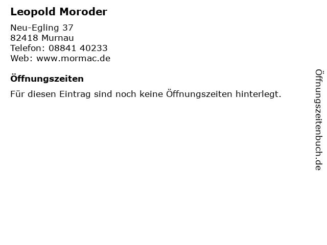 Leopold Moroder in Murnau: Adresse und Öffnungszeiten