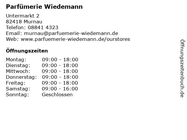 Parfümerie Schmidt in Murnau: Adresse und Öffnungszeiten