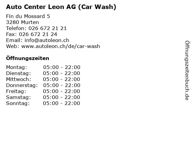 Auto Center Leon AG (Car Wash) in Murten: Adresse und Öffnungszeiten