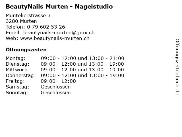 BeautyNails Murten - Nagelstudio in Murten: Adresse und Öffnungszeiten