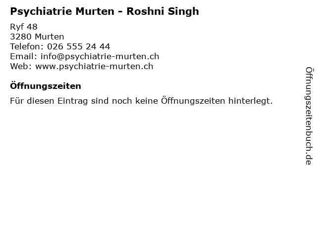 Psychiatrie Murten - Roshni Singh in Murten: Adresse und Öffnungszeiten