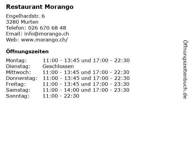 Restaurant Morango in Murten: Adresse und Öffnungszeiten