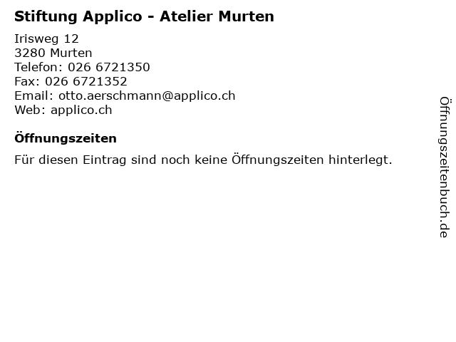 Stiftung Applico - Atelier Murten in Murten: Adresse und Öffnungszeiten