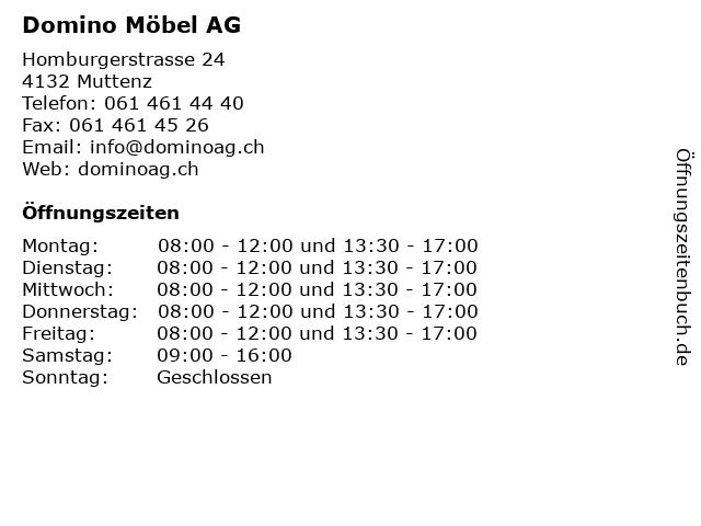 Domino Möbel AG in Muttenz: Adresse und Öffnungszeiten