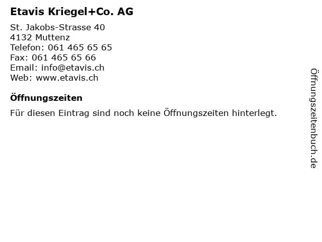 Etavis Kriegel+Co. AG in Muttenz: Adresse und Öffnungszeiten