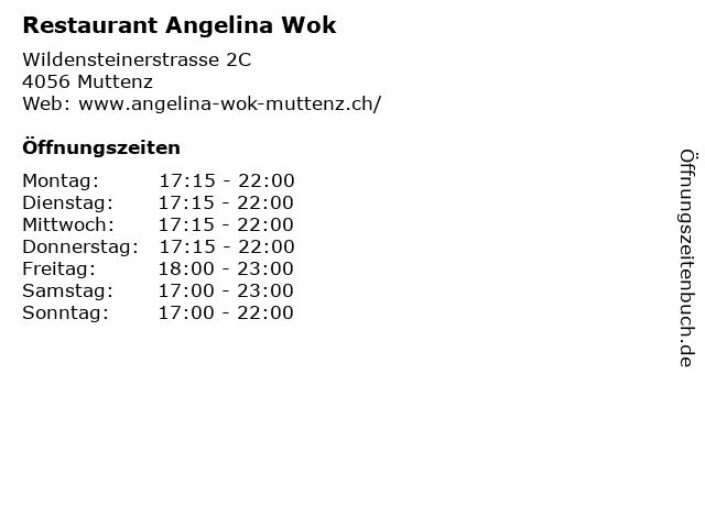 Restaurant Angelina Wok in Muttenz: Adresse und Öffnungszeiten