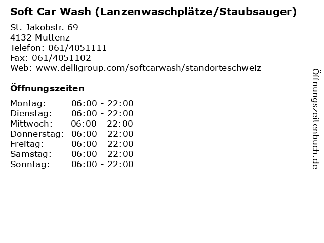 Soft Car Wash (Lanzenwaschplätze/Staubsauger) in Muttenz: Adresse und Öffnungszeiten