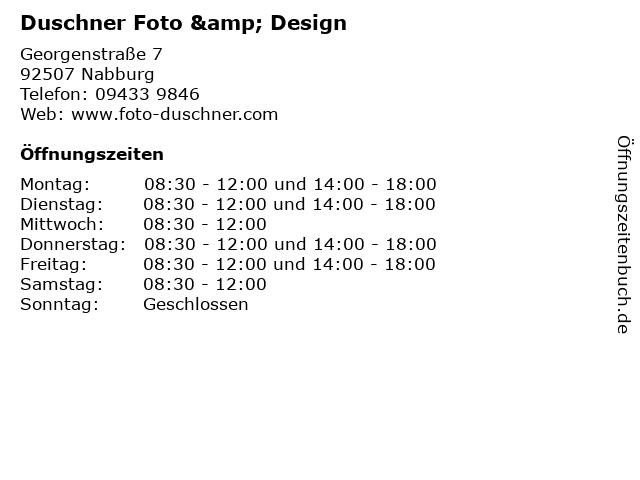 Duschner Foto & Design in Nabburg: Adresse und Öffnungszeiten