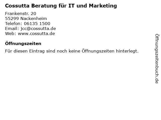 Cossutta Beratung für IT und Marketing in Nackenheim: Adresse und Öffnungszeiten