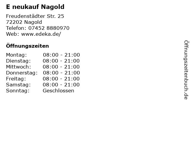 E neukauf Nagold in Nagold: Adresse und Öffnungszeiten