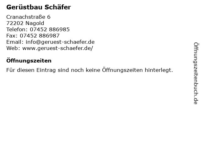 Gerüstbau Schäfer in Nagold: Adresse und Öffnungszeiten