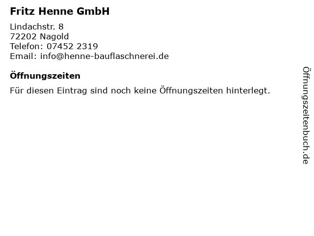 Henne GmbH in Nagold: Adresse und Öffnungszeiten