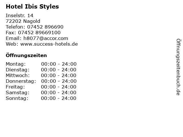 Hotel Ibis Styles in Nagold: Adresse und Öffnungszeiten