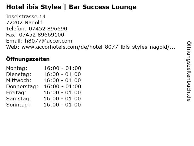 Hotel ibis Styles | Bar Success Lounge in Nagold: Adresse und Öffnungszeiten