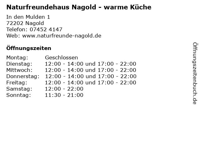 Naturfreundehaus Nagold - warme Küche in Nagold: Adresse und Öffnungszeiten