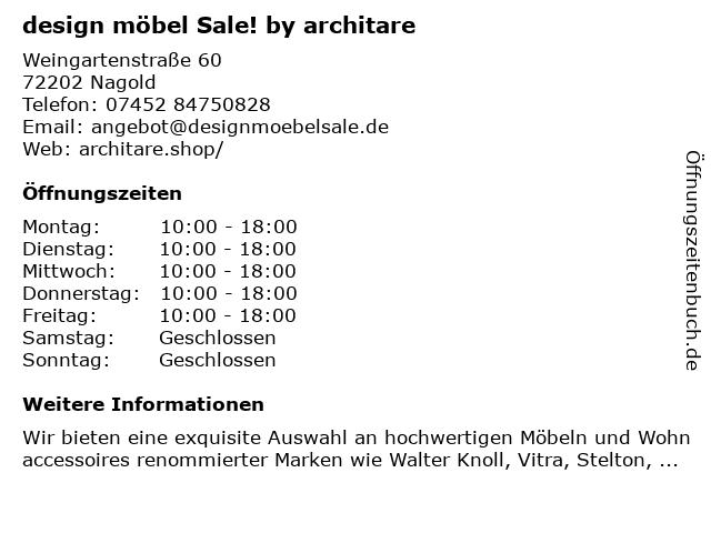 ᐅ öffnungszeiten Design Möbel Outlet By Architare