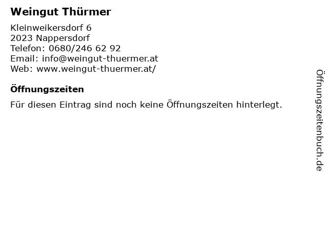 Weingut Thürmer in Nappersdorf: Adresse und Öffnungszeiten