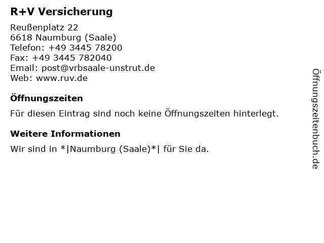Volks- und Raiffeisenbank Saale-Unstrut eG - Bankstelle Naumburg in Naumburg: Adresse und Öffnungszeiten