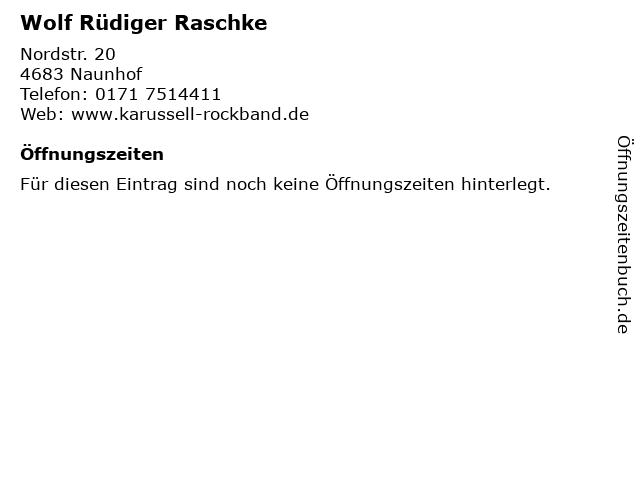 Wolf Rüdiger Raschke in Naunhof: Adresse und Öffnungszeiten