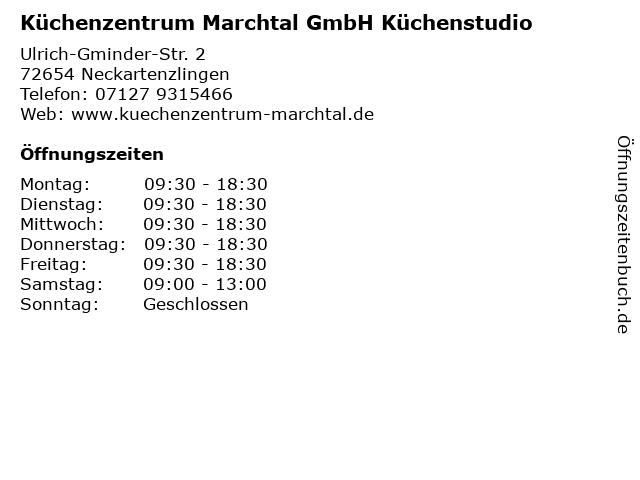 ᐅ öffnungszeiten Küchenzentrum Marchtal Gmbh Küchenstudio