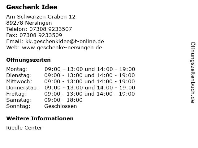Geschenk Idee in Nersingen: Adresse und Öffnungszeiten
