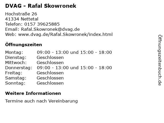 DVAG - Rafal Skowronek in Nettetal: Adresse und Öffnungszeiten