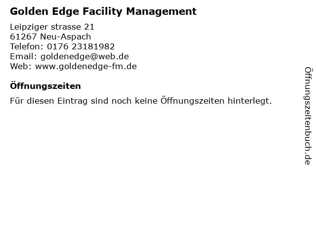 Golden Edge Facility Management in Neu-Anspach: Adresse und Öffnungszeiten