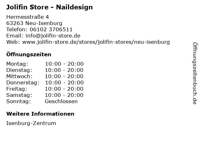 Jolifin Store in Neu-Isenburg: Adresse und Öffnungszeiten