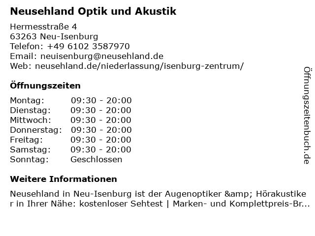 Neusehland Hartmann GmbH & Co.KG in Neu-Isenburg: Adresse und Öffnungszeiten