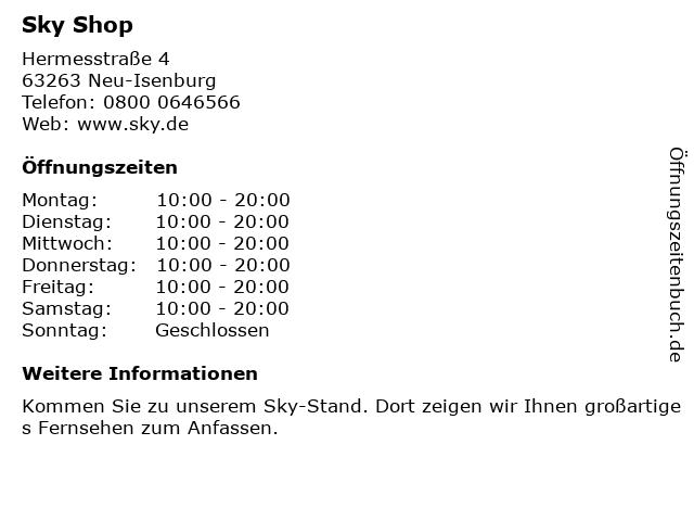 sky Entertainment Point in Neu-Isenburg: Adresse und Öffnungszeiten