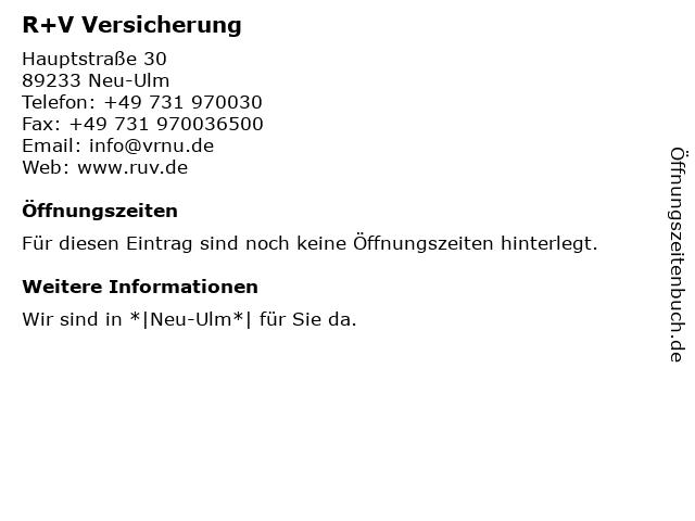 ᐅ öffnungszeiten Vr Bank Neu Ulm Eg Geschäftsstelle Pfuhl