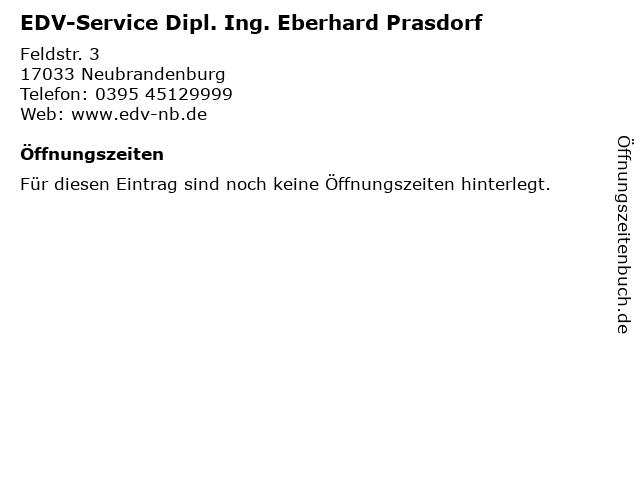 EDV-Service Dipl. Ing. Eberhard Prasdorf in Neubrandenburg: Adresse und Öffnungszeiten